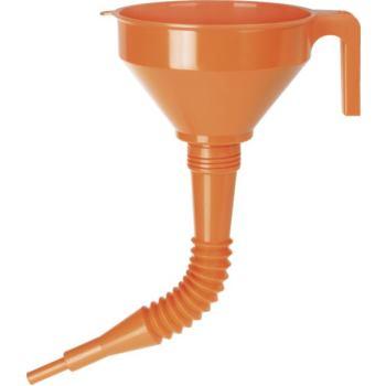 Katalysator-Trichter aus HDPE Farbe orange