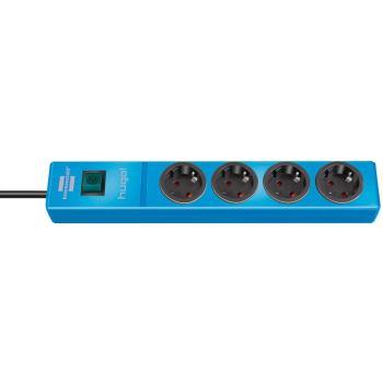 hugo! Steckdosenleiste 4-fach blau 2m H05VV-F3G1,5