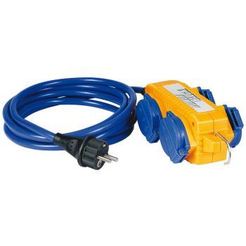 Verlängerungskabel IP44 mit Powerblock 5m blau AT-