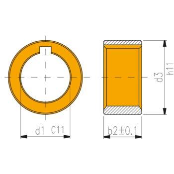 Ringe für Fräsdorne 40 x 2 mm Form B DIN 2084