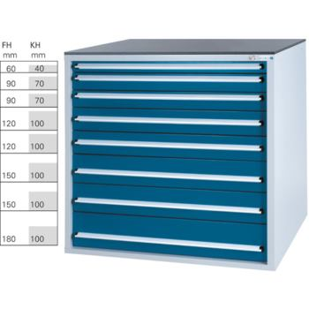 Werkzeugschrank System 800 B, Modell 32/8 GS -