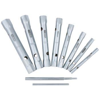 Rohrsteckschlüssel-Satz, 10-tlg., 6x7-20x22mm 518.