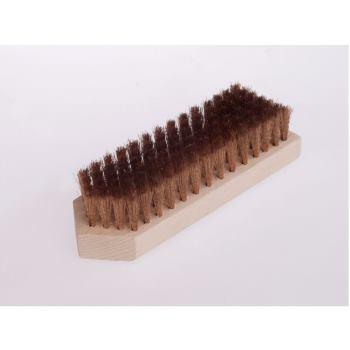 Beizbürsten 180x60 mm 7 rhg. Bronzedraht BRO ge w. 0,15 mm hoch 20 mm