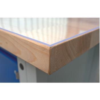 Weich-PVC-Auflage LxTxH 1500x750x3 mm transparent