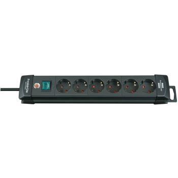 Premium-Line Steckdosenleiste 6-fach schwarz 3m H0