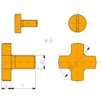 Fräseranzugsschrauben DIN 6367 M 8 Dorn Durchmesse