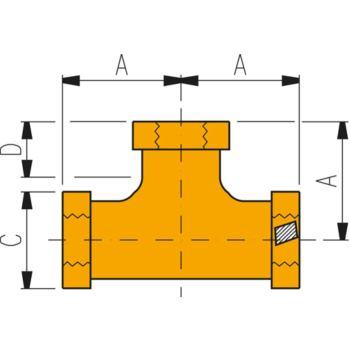 Hochdruckverschraubung FZ 1612 T-Stück 3/8 Inch -