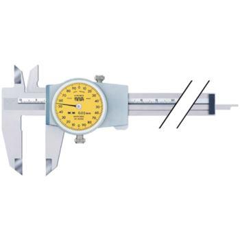 Messschieber mit Rundskale 200 mm Abl. 0,02 mm mi