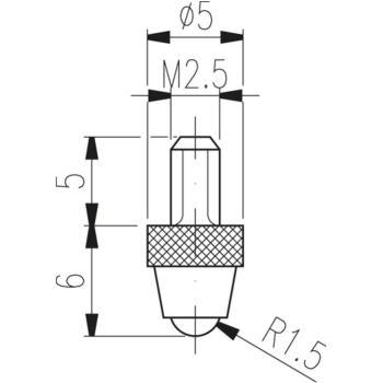 Messeinsatz Typ TN 10 W hartmetallbestückt