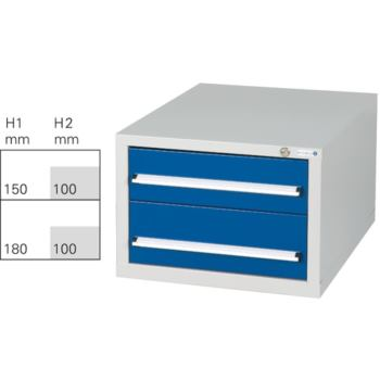 Schubladenblock G 2 RAL 7035/5010