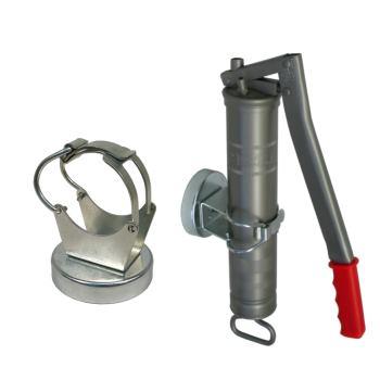 Befestigungsklammer für Fettpressen mit Magnethalt