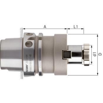 Aufsteckfräserdorn lang HSK 63-A Durchm.32 mm DIN 69893-1fester Mitnehmer