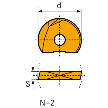 Hartmetall-Schneidplatte LC610Q WPR-D 32 mm Helix