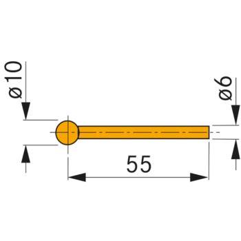 Messeinsatz mit Hartmetall-Kugel 10 mm