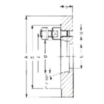 Kurzkegelflansch, Außen-Ø 500, Kurzkegel 8, ISO 702-3