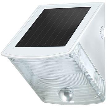 Solar LED-Wandleuchte SOL 04 plus IP44 mit Infrarot-Bewegungsmelder 2xLED 0,5W 85lm Farbe Grau-Weiß