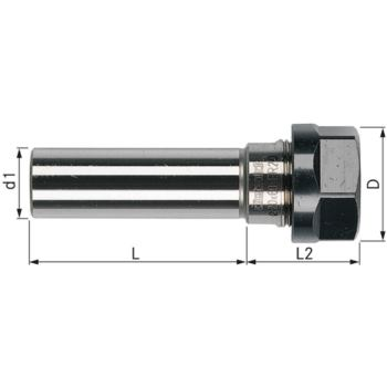 Spannfutter-Verlängerung ER 16 - 12x80 mm