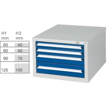 Schubladenblock Modell G 4 HxBxT 410x570x680 mm