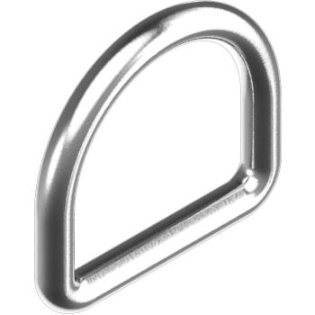 D-Ring, geschweißt, poliert - Edelstahl A4 DxLxW = 8x 50x 47 mm