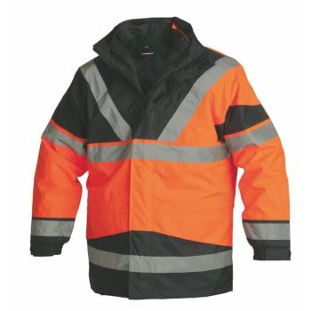 5-in-1 Warnschutz-Parka Klasse 3 orange Gr. S