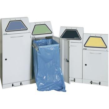 Wertstoffbehälter m.Abfallsackhalterung 120l Hand