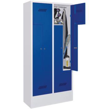 Z-Garderobenschrank mit Sockel und Drehriegelversc