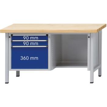 Werkbank Modell 410 V Sitzer Platte Zinkblech