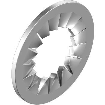 Fächerscheiben DIN 6798 innengezahnt-Edelstahl A4 IZ 4,3 für M 4