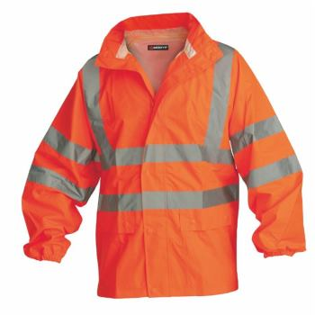 Warnschutz-Regenjacke Klasse 3 orange Gr. XL