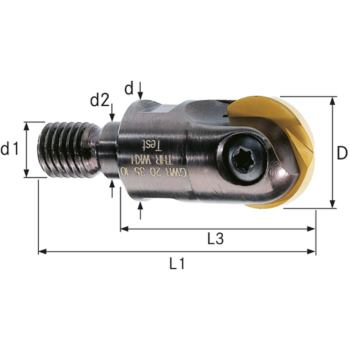 Aufschraub-Gesenkfräser GWR-THR 20x54,5mm Schaft