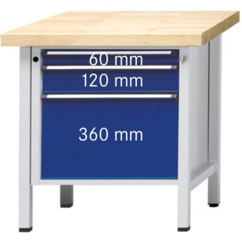 Werkbank Modell 57 V ZBP Tragfähigkeit 1500kg