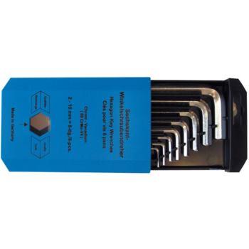 Sechskantschlüsselsatz Sechskantschraubendreher 8-teilig 2-10mm in Schachtel