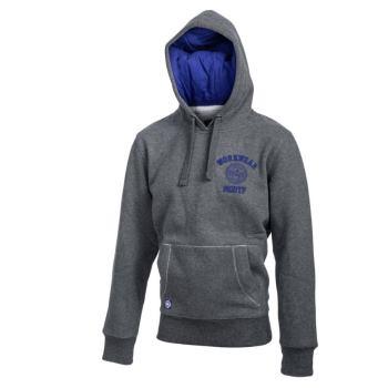 Hoody grau/blau Gr. M