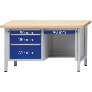 Werkbank Modell 348 V Sitzer Platte Buche Mas