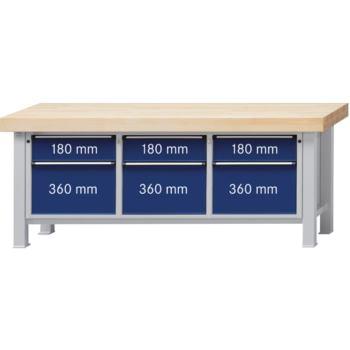 Werkbank Modell 223VS Platte Buche-Massiv 100