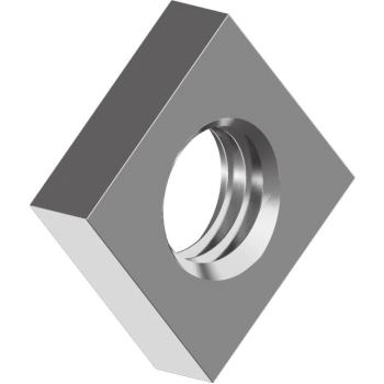 Vierkantmuttern DIN 562 - Edelstahl A4 niedrige Form M 3