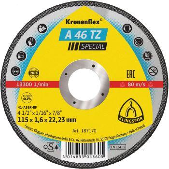 Trennscheibe INOX, SPEZIAL, A 46 TZ, gerade, Abm.: 115x1,6x22,23 mm