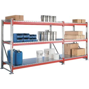 CLIP Arbeitsschutzregal mit 3 Böden Grundrega