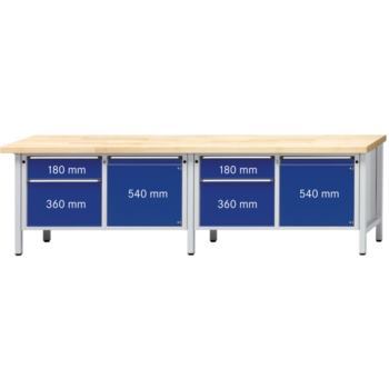 ANKE Werkbank Modell 232 V Platte Zinkblechbelag (