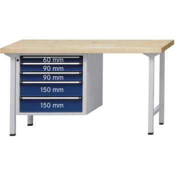 Kombi-Werkbank Mod. 723 V Platte Buche-Massiv