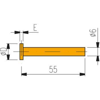 Messeinsatz mit Hartmetall-Scheibe 14 mm