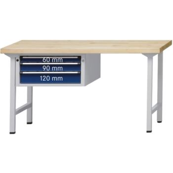 Kombi-Werkbank Mod. 522 V Platte Buche-Massiv