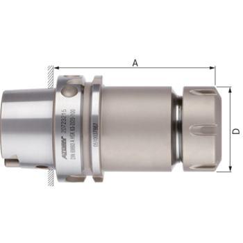 Fräserspannfutter kurz ER 25 HSK 63-A DIN 69893-1 Spannbereich 2-16