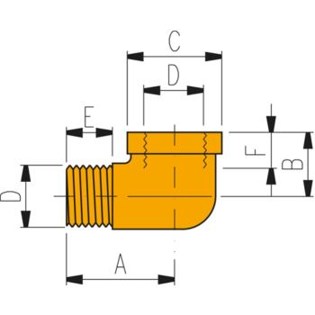 Hochdruckverschraubung FZ 1616 Winkel 3/8 Inch -1