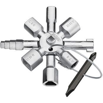 TwinKey Universal Schaltschrank Schlüssel Dreikant Vierkant