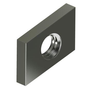 Gewindeplatten f.Profilschienen - Edelst.A4 M 6 Typ 28/15