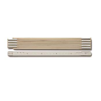 Holzgliedermaßstab Länge 5 m, weiß 973900400
