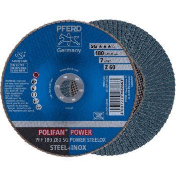 POLIFAN®-Fächerscheibe PFF 180 Z 60 SG/22,23
