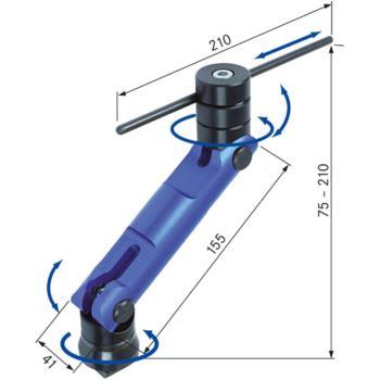 Werkstückanschlag mit T-Nutensteine 12 und 14 mm