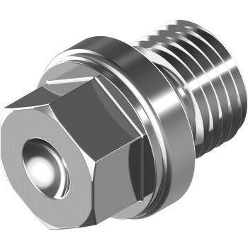 """Verschlussschrauben m. ASK u. Bund DIN 910-G-A2 G 1/2"""" zylindr. Gewinde"""